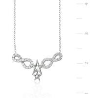 Tekbir Silver 925 Sonsuzluk Yıldız Gümüş Kolye PT0460047