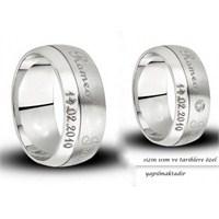 Berk Kuyumculuk Gümüş Alyans 5544 (Çift Fiyatı)