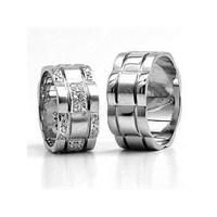 Berk Kuyumculuk Gümüş Alyans 5549 (Çift Fiyatı)