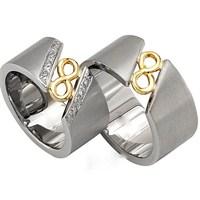 Berk Kuyumculuk Gümüş Alyans 5553 (Çift Fiyatı)