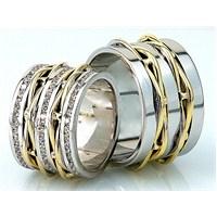 Berk Kuyumculuk Gümüş Alyans 5556 (Çift Fiyatı)