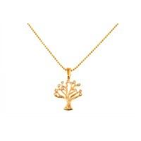 Lochers Altın Kaplama Kristal Taşlı Hayat Ağacı Kolye