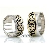 Berk Kuyumculuk Gümüş Alyans 5577 (Çift Fiyatı)