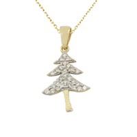 AltınSepeti Yılbaşı Ağacı Taşlı Altın Kolye AS517KL