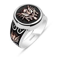 Tesbihane 925 Ayar Gümüş Osmanlı Devlet Arması-Akıncı Yüzüğü