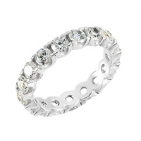 Silver & Silver 8 Ct Zirkon Taşlı Tamtur Alyans, Yüzük