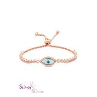 Silver & Silver Göz Nazar Bileklik