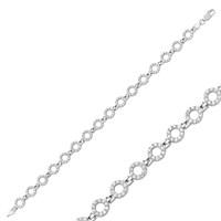 Gumush 925 Ayar Gümüş Yuvarlak Bileklik