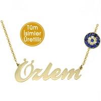 Goldstore 14 Ayar Altın Nazar İsim Kolye IKNP36467