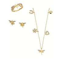 Melis Gold Altın Taşlı Yusufcuk Set As000026