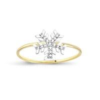 Melis Gold Kar Tanesi Yüzük Ay0000188
