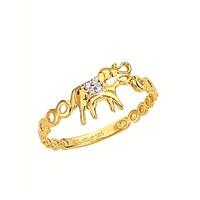 Melis Gold Altın Fil Yüzük Ay0000265