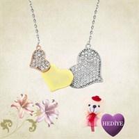 Gumush Gümüş Üç Kalp Kolye