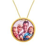 Goldstore 14 Ayar Altın Resimli Madalyon kolye Kolye GP38011