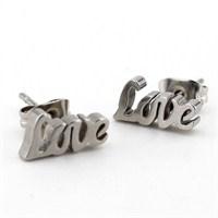 Solfera Love Aşk Yazılı Bayan Küpe