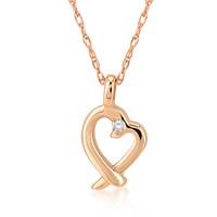 Melin Paris Altın Pırlantalı Kalp Kolye