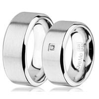 Berk Kuyumculuk Çelik Alyans LM-029W (Çift Fiyatı)