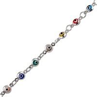 Altınsepeti Renkli Gözlü Gümüş Bileklik G51bl