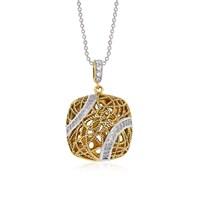 Altınsepeti Gümüş Altın Kaplamalı Kafes Kolye Astm016910