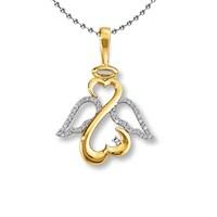 Chavin Melek - Sonsuzluk - Kalp Hepsibirarada 0,02 Carat Pırlantalı Altın Kaplama Gümüş Kolye Cc90 120,99 TL