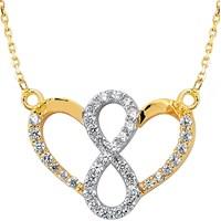 Goldstore 14 Ayar Altın Sonsuz Aşk Kolyesi Gp37915