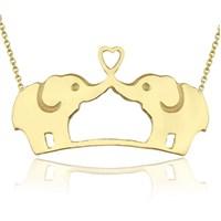 Goldstore 14 Ayar Altın Fil Kolye Gp38356