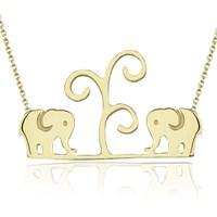 Goldstore 14 Ayar Altın Fil Kolye Gp38359