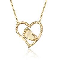 Goldstore 14 Ayar Altın Kalp Kolye Gp38372