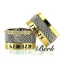 Berk Kuyumculuk Gümüş Alyans 5593 (Çift Fiyatı)