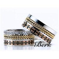 Berk Kuyumculuk Gümüş Alyans 5611 (Çift Fiyatı)