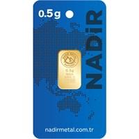 Nadir Gold 24 Ayar Külçe Gram Altın 0,5 Gr.