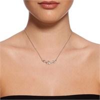 Bıggbıjoux Amor Taşlı Kalp Kolye-Gümüş Renkli