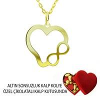 Ejoya Sonsuzluk Altın Kalp Kolye