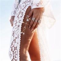 Chıctat Festıval Love Mücevher Dövme Takı 4 adet 14*21 cm