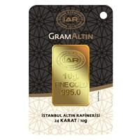 IAR 24 Ayar Külçe Gram Altın 10 Gr. - Aynı Gün Kargo