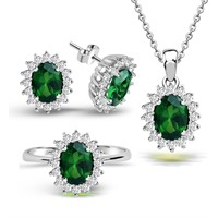 Aslaner Saray Koleksiyonundan Antruaj Emerald Renk Set