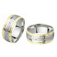Ejoya Gümüş Çift Alyans C1015