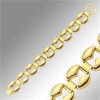 Sheamor Kum Saati Kesimli Altın Kaplama Bileklik