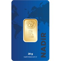 Nadir Gold 24 Ayar Külçe Gram Altın 20 Gr. - Aynı Gün Kargo 3.167,66 TL