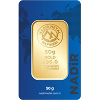 Nadir Gold 24 Ayar Külçe Gram Altın 50 Gr. - Aynı Gün Kargo 7.918,85 TL