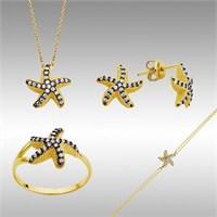 Sheamor Çift Renk Deniz Yıldızı Altın Set