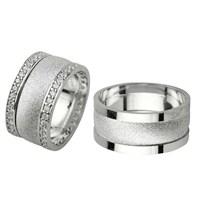 Ejoya Gümüş Çift Alyans P1083