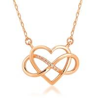 Divas Love Altın Pırlantalı Sonsuzluk Kalp Kolye
