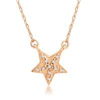 Divas Love Altın Pırlantalı Yıldız Kolye