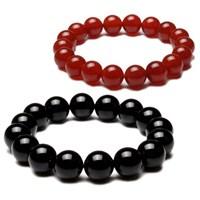 Takıcadde Kızıl Kuvars Siyah Oniks Doğaltaş Bileklik Seti