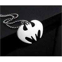 Takıcadde Batman Lazer Kesim Paslanmaz Çelik Kolye
