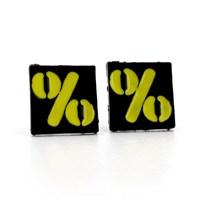 Solfera Yüzde İşareti Matematik Sembolu Küpe % E092