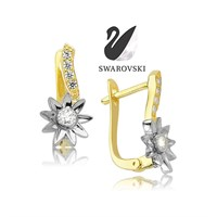 Swarovski Sunflower Küpe