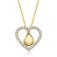 Goldstore 14 Ayar Altın Kalp Kolye Gp38876