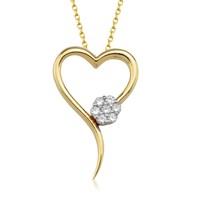 Goldstore 14 Ayar Altın Kalp Kolye Gp39054